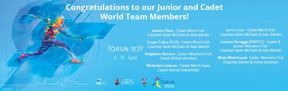 2019 junior cadet world champs congrats