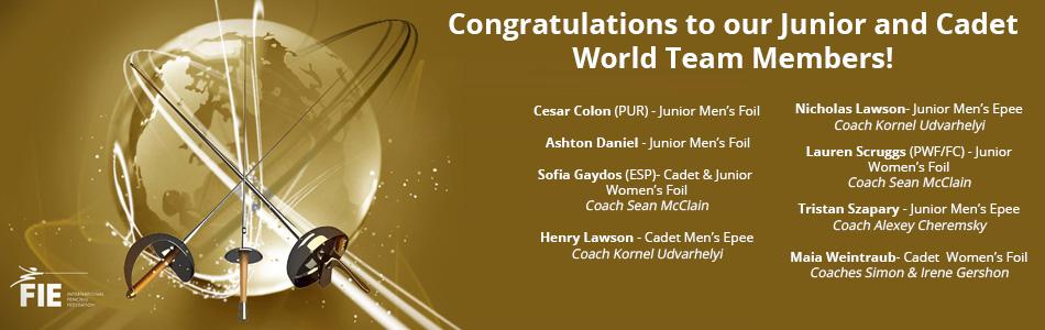 2021 junior cadet world champs congrats